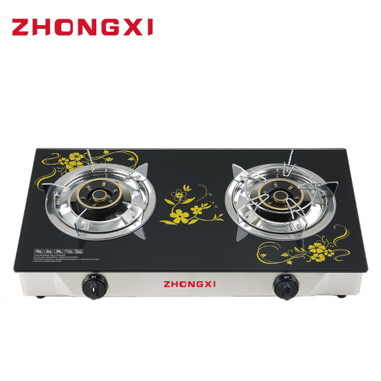 Non-Magnetic Stainless Steel Body Glass Panel Gas Stove (JZ-0919)