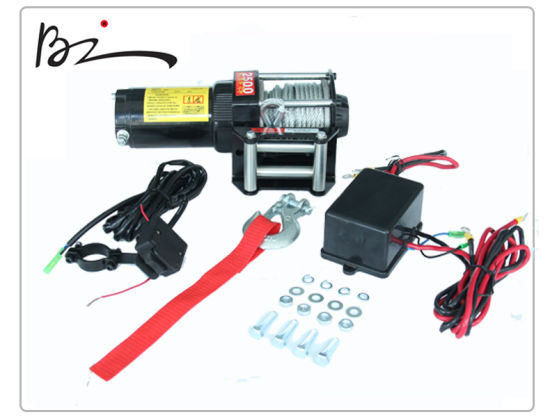 Recovery Electric Winch with 2500lb Capacity