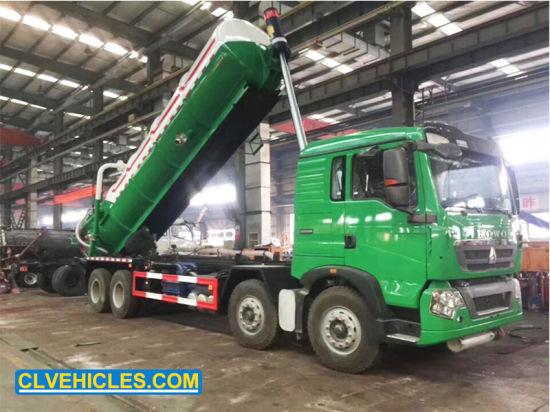 HOWO 20cbm 12wheeler High Volume Heavy Duty Deep Lifting Super Suction Tankers Truck