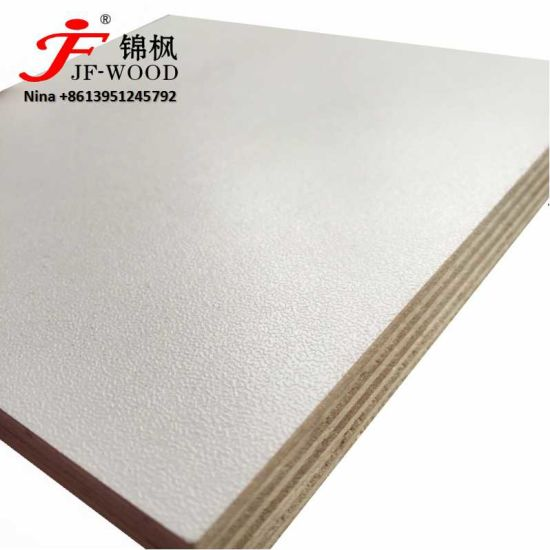 2019 Factory Directly Sale High Gloss Embossed School Furniture Material Melamine China MDF HDF Plywood Board