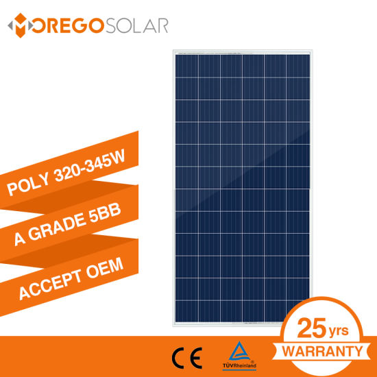 Morego Newest PV Poly Solar Panel 325W 330W 335W 340W for Power System