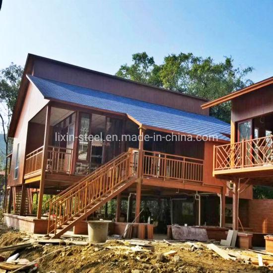Vacation Prefab Steel House Prefabricated Building Steel Frame Modular House