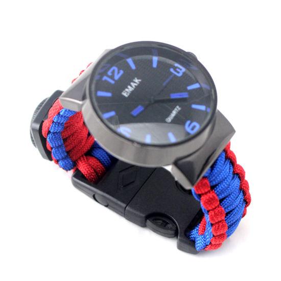 Wholesale Military Survival Gear Outdoor Hiking Equipment Survival Bracelet Watch