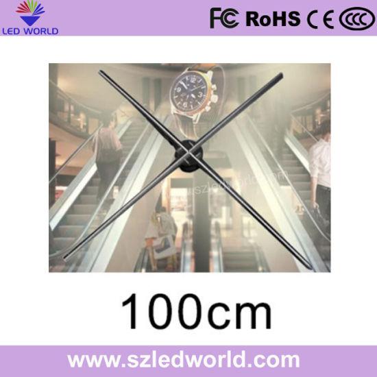 70cm Diameter Hologram 3D LED Fan Display Screen for Showcase