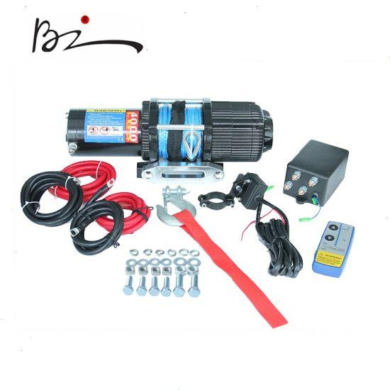 12V Electric Winch with UTV ATV 4000lb Dyneem Rope