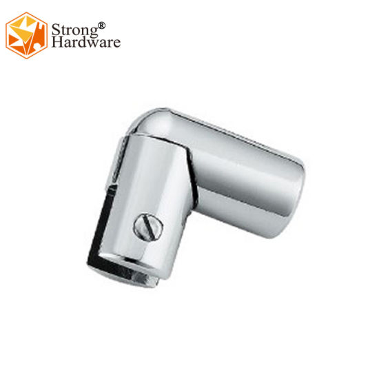 L-Shape Stainless Steel 90 Degree Groove Bathroom Round Tube Connector