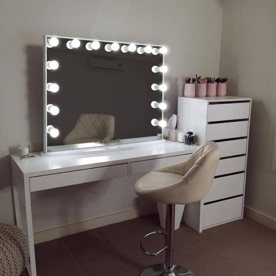 China Hollywood Light Makeup Vanity, Dressing Room Mirror With Light Furniture