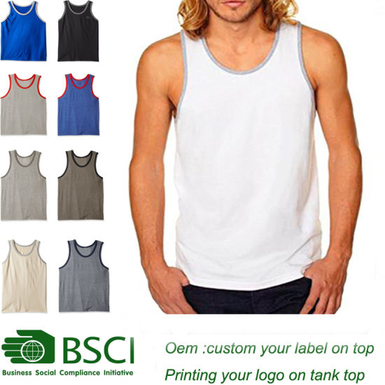 Custom Summer Bodybuilding Tanktop for Man