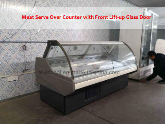 6FT Long Supermarket Serve Over Counter, Meat and Deli Showcase Cooler pictures & photos