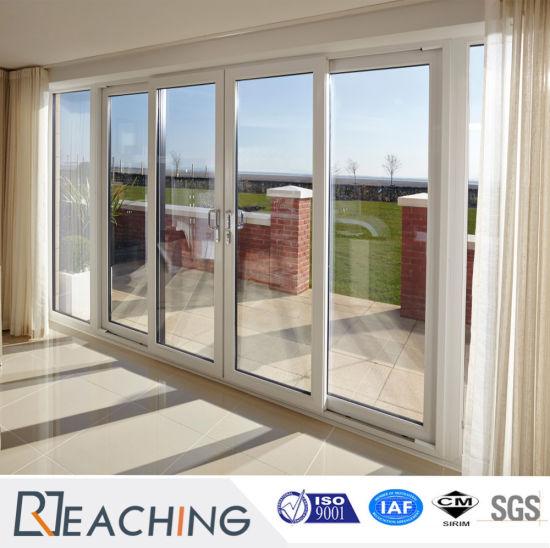Delightful High Quality UPVC Window And Door Aluminum Frame Double Glass Folding Door
