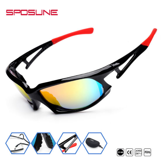 3b03ce2205754 Full Frame Polarized Mirror Coating Sport Sunglasses Wtth Two Tone pictures    photos