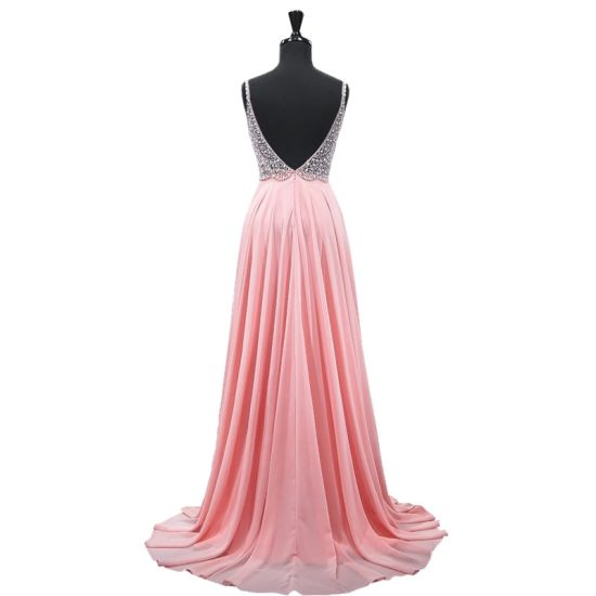 Crystal Cocktail Party Prom Gown Vestidos Sheer Top Evening Dress E1208 pictures & photos