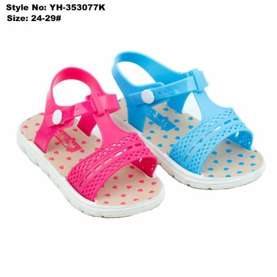 f002be8718b China Factory Cheap Children Girls Heart Printing Kids Sandal ...