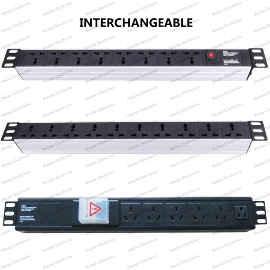 19 Inch Interchangeable Type Universal Socket Network Cabinet and Rack PDU (2) pictures & photos