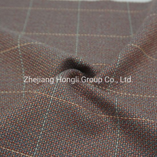 65% Polyester 35% Rayon Steam Check Tr Fabric #134