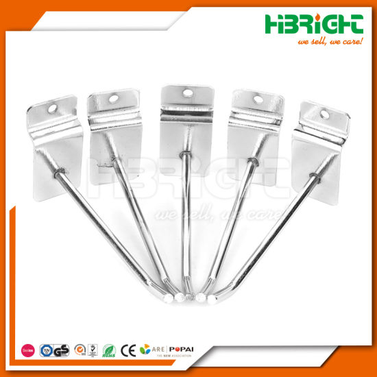 Single Prong Slatwall Groove Wall Dsiplay Hooks pictures & photos