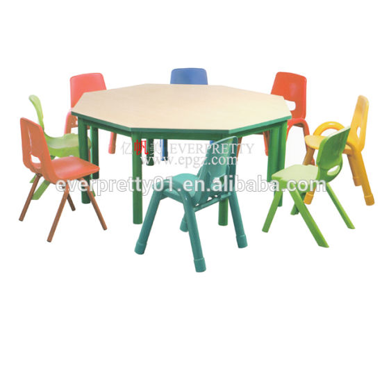 Modern Children Furniture Square Wooden Kid S Desk And Chair