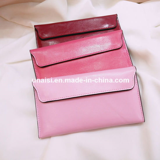 Wholesale Stock Many Colors Real Leather Purse Ladies Wallet Bag