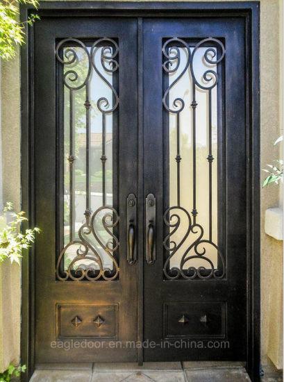 Manufacturer China Direct Price Wrought Iron Front Door Exterior