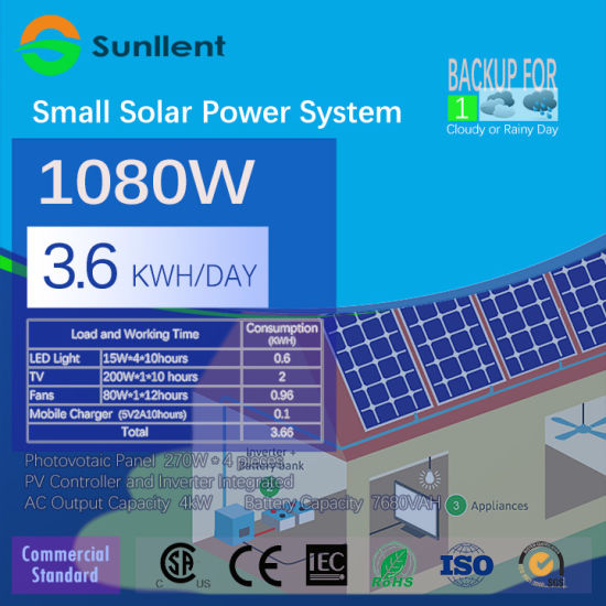 1kw DC96V AC110V/220V Wholesale Small Solar Power System