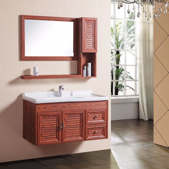 2 Doors 2 Drawers Design Cheap Factory Price Wall Mounted Ceramic Basin Aluminum  Cabinets