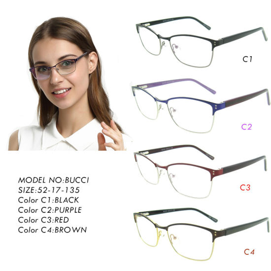 23a6aa6605 Lady New Design Fashion Female High Quality Stainless Optical Frames Bucci  pictures   photos