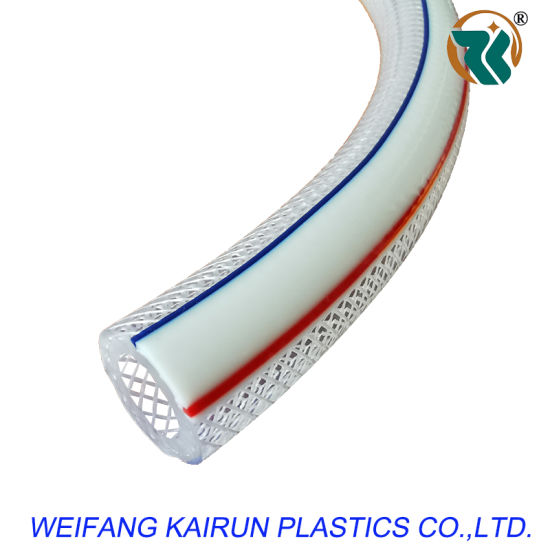 Hot Sale PVC Water Hose with Red or Blue or White Colour Line Air Pressure Hose for Water Supply