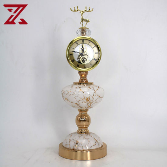 Simple Post-Modern Luxury Home Living Room Table Clock Decoration for Home Accessories
