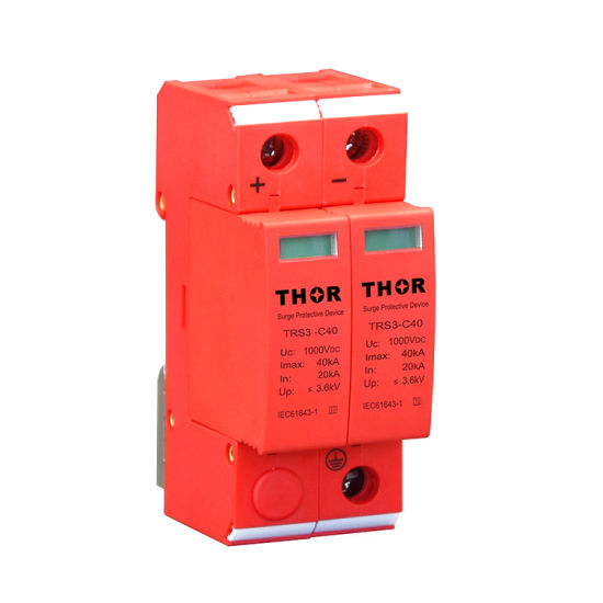DC Power Lightning Arrester 40ka Photovoltaics Surge Protector 1000V DC SPD pictures & photos