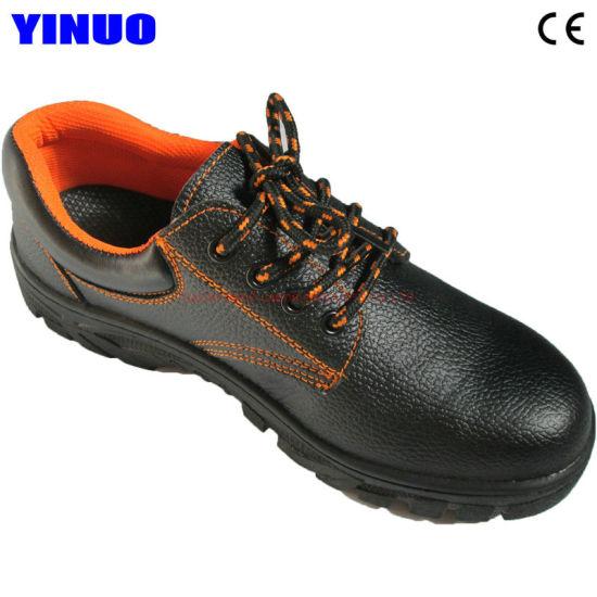 Leather Steel Toe Industrial Safety Work Footwear