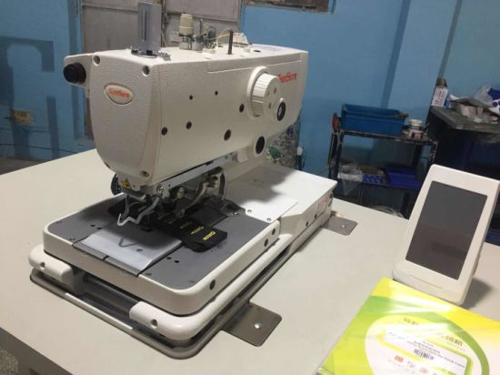 Computer-Controlled Eyelet Buttonholing Sewing Machine