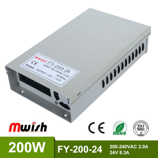 Hot Sale LED Power Supply Switch 200W Transformers for LED Lighting DC 24V Power Supply Switching pictures & photos