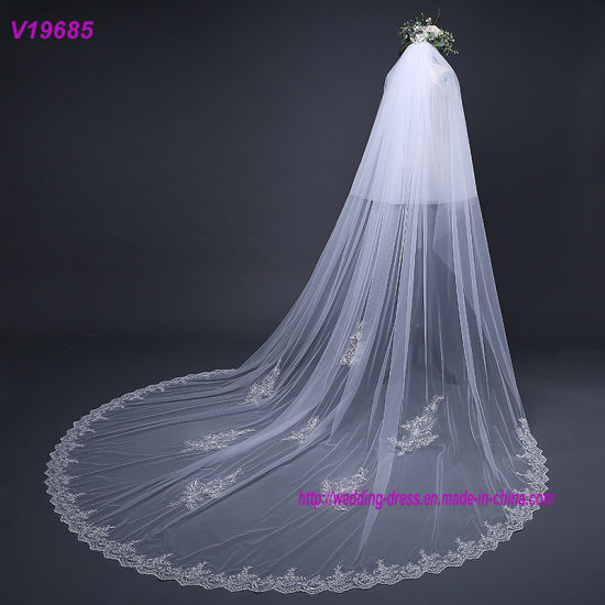 Ivory Two Layers Tulle 3 Meters Long Bridal Veils