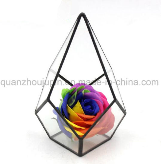 OEM Glass Geometric Tabletop Greenhouse Planter Flower Vase pictures & photos