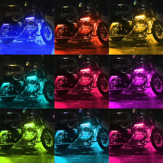 China Motorcycle Led Light Kit Strips Multi Color Accent
