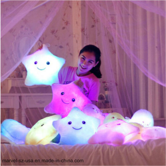 LED Plush Pillow Hot Colorful Stars Kids Toys Christmas Gift Birthday Gift