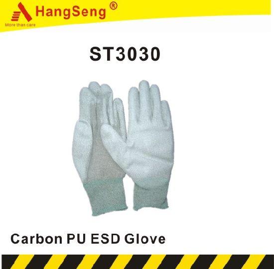 Carbon PU ESD Safety Work Glove (ST3030)
