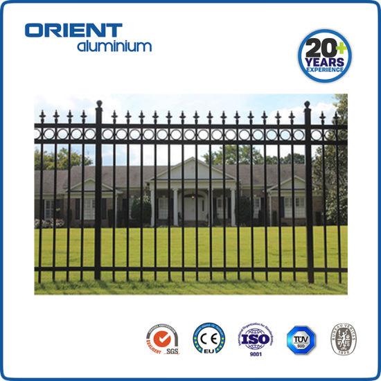 3 Rails Ornamental Security Fence Garden Fence Aluminium