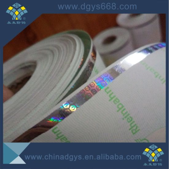 High Quality Hologram Security Thread Paper