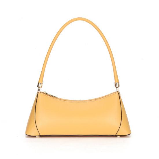 Europe New Fashion Design Genuine Leather Underarm Women Hand Bag