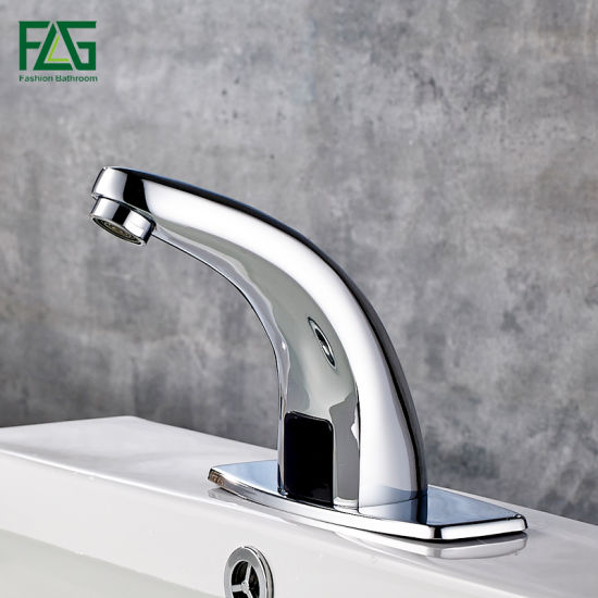 Flg Chromed Multi Function Automatic Bathroom Faucet Sensor Tap