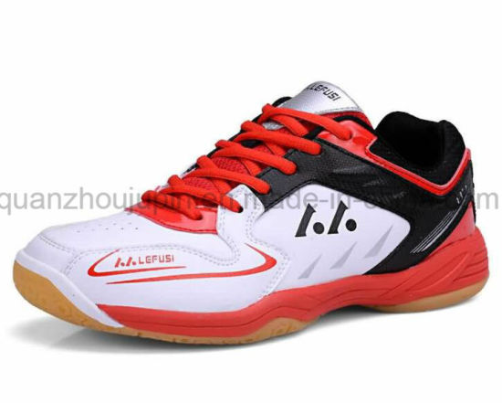 OEM High Quality PU Rubber Sport Training Badminton Shoes pictures & photos