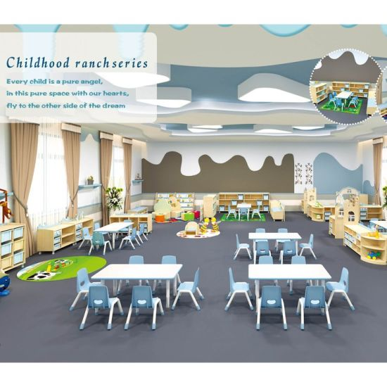 Kindergarten Classroom Children Table and Chair Daycare Plastic Kids School Furniture Wholesale Sets