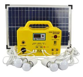 10W~300W Mini Portable DC Solar Home Lighting Power System with Panel pictures & photos