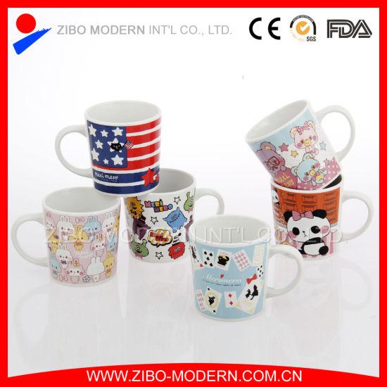 573ccfaae6e China Small Children Cartoon Ceramic Mug with Design - China Small ...