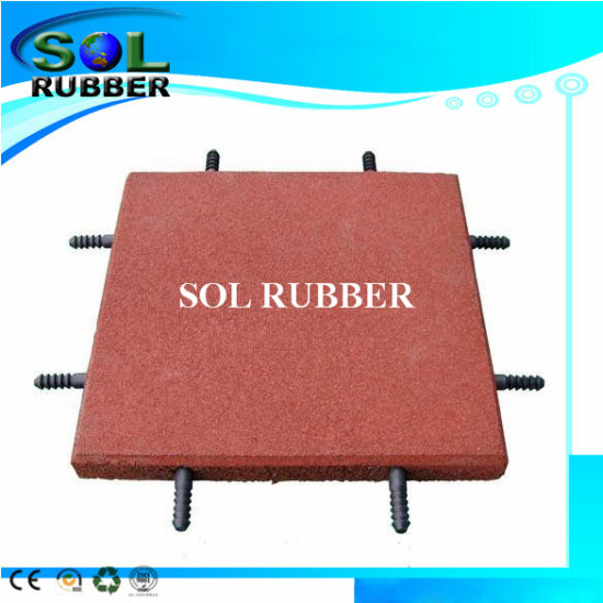 China Free Install Connect Pin Interlock Outdoor Floor Rubber Mat - Rubber connecting floor mats