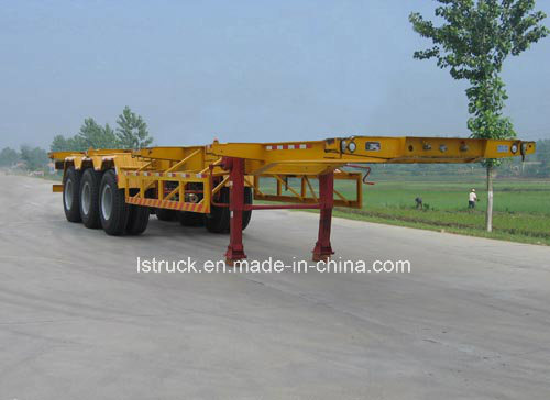 20FT Double Axle Flatbed Container Semi Trailer pictures & photos
