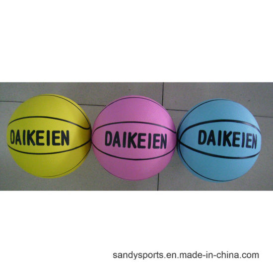Colorful Official Size Promotion Rubber Basketball pictures & photos