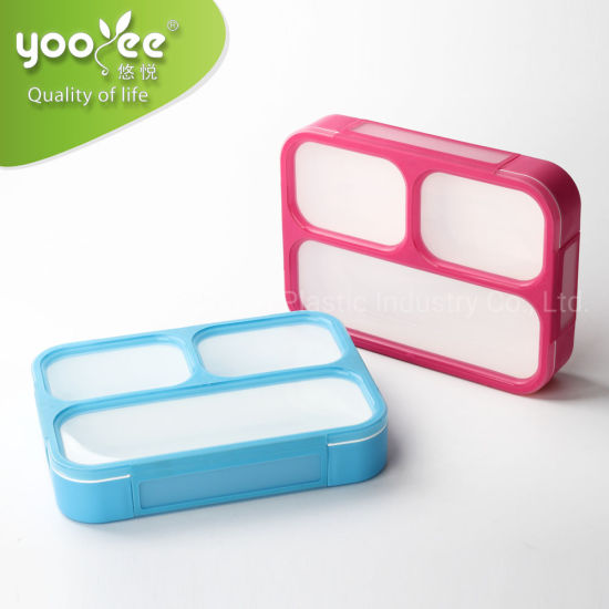 Hot Selling Leak Proof Plastic Lunch Box with Compartment for Keep Food Fresh