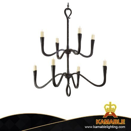 Indoor Craftsmen Quality Iron Customized Made Industrial Decoration LED Chandelier (2170)